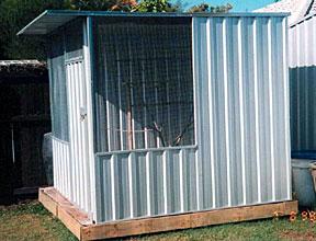 1x1-5m Flat Roof Single Door Aviary