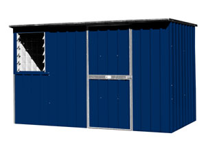 3.0 x 1.5 flat roof mountain blue shed
