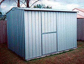 3 x 2.25m single door zinc shed