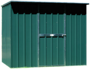 2.25 x1.5 flat roof caulfield green shed