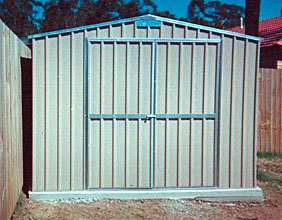 3m double door gable roof shed