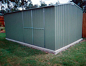 4-5 x 3m double door colorbond shed